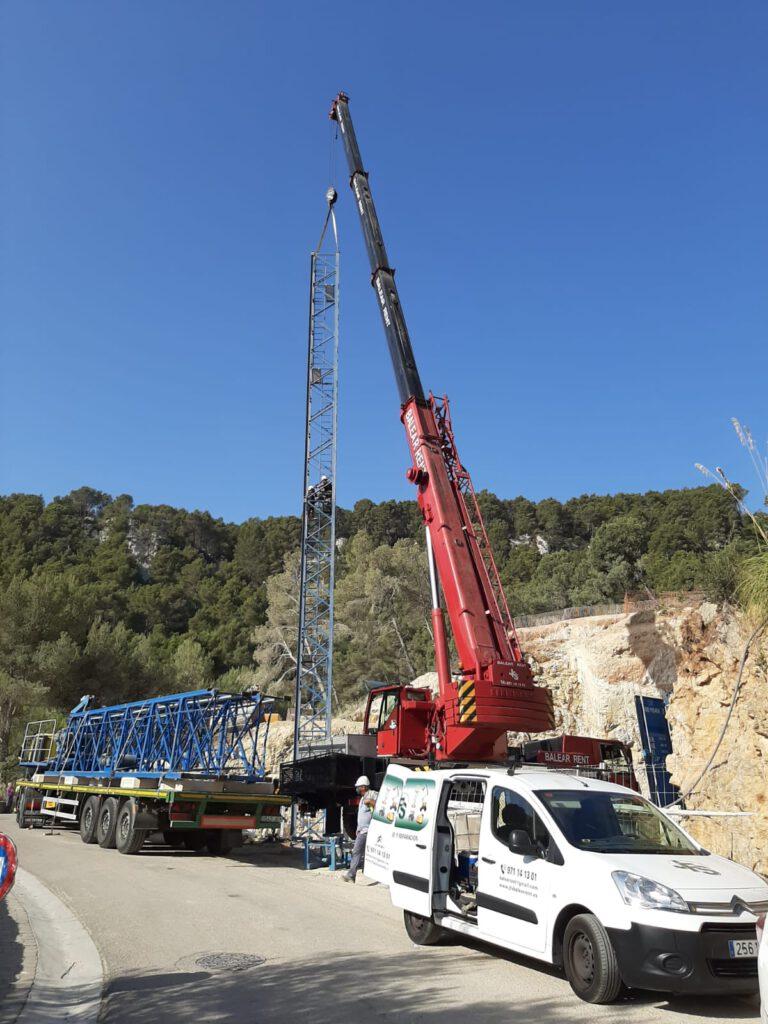 Montaje grúas Mallorca